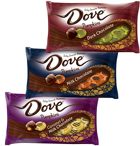 Dove Pumpkins Milk Chocolate Halloween Holiday Candy - Silky Smooth Milk Chocolate Dark Chocolate and Caramel - Candies For Home Parties Office School Work - Halloween Candy Dish Filler ()