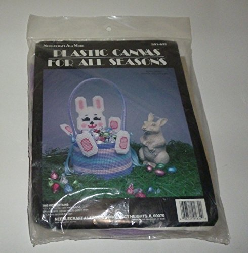 Easter Bunny Rabbit Easter Basket Plastic Canvas Kit