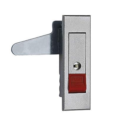 NiceButy Cerradura eléctrica (con pulsador Exteriores Normal Close Armario eléctrico de la – con botón