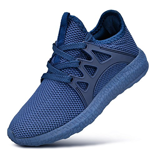 Feetmat Kids Sneakers Mesh Lightweight Breathable Athletic Sports Running Walking Tennis Shoes for Boys Girls Blue