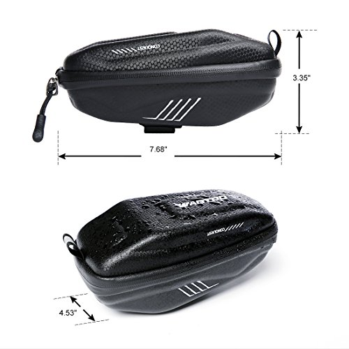 Wantdo Bicycle Saddle Bag with Highly Sealed Zipper for Repair Tools,Waterproof Bike Bag with Reflective Logo Outdoor Accessories Pocket Cycling Pack by Wantdo (Image #5)