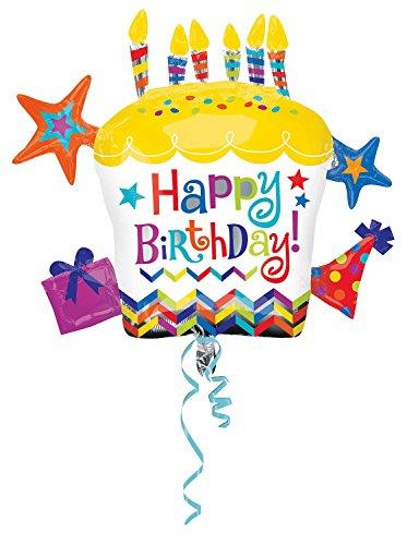 - Anagram International Happy Birthday Cupcake Star Balloon, 28