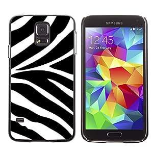 For SAMSUNG Galaxy S5 V / i9600 / SM-G900F / SM-G900M / SM-G900A / SM-G900T / SM-G900W8 Case , White Black Africa Animal Pattern - Diseño Patrón Teléfono Caso Cubierta Case Bumper Duro Protección Case Cover Funda