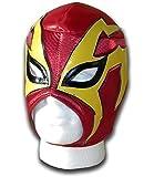 Shoker Rouge/jaune de Catch mexicain luchador Masque pour adulte