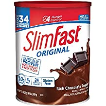 SlimFast – Original Meal Replacement Shake Mix Powder – Weight Loss Shake – 10g of Protein – 24 Vitamins and Minerals Per Serving – Great Taste – 31.18 oz. – Rich Chocolate Royale Flavor