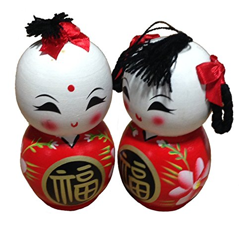 Boutique by Chinatown Hit Ceramic Hand-Painted Wawa Chinese Dolls (Wawa Wood)