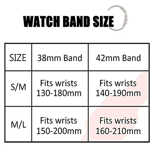 Large Product Image of AdMaster Silicone Compatible for Apple Watch Band and Replacement Sport iwatch Accessories Bands Series 3 2 1 Pebble 38mm S/M