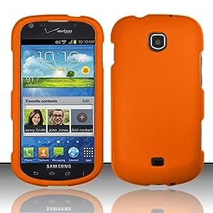 For Samsung© Galaxy Stellar 4G i200 Rubberized Hard Case Cover - Orange