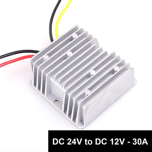 DC 24v to DC 12v Step Down 30A 360W Heavy Duty Truck Car Power Supply Adapter Converter Reducer Regulator for Auto Car Truck Vehicle Boat Solar System etc.(DC15-40V Inputs) (Power Heavy Duty Supply)