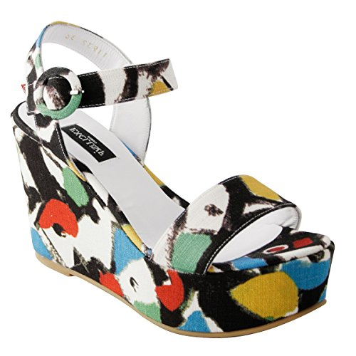 Multicolored Exclusif Paris Sandals Fashion Women's BIHfwrB