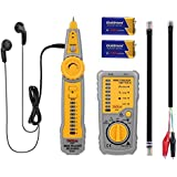 Testeur de Câbles RJ45 RJ11 Tacklife CT01 Détecteur de Câbles pour Câble Réseau Test de Ligne Téléphonique Contrôle de Continuité Indicateur de Batterie Faible avec Lumières LED