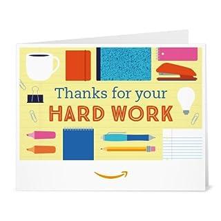 Amazon Gift Card - Print - Thanks for your Hard Work (B01MXXKKVG) | Amazon price tracker / tracking, Amazon price history charts, Amazon price watches, Amazon price drop alerts