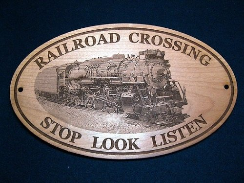 Engraved Nickel Plate - Nickel Plate Railroad # 765 Engraved Wooden Sign//Solid Cherry
