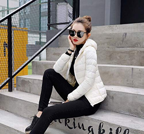 Tamaño Vestir Exteriores Xxxl Prendas Chaqueta Blanco Chaqueta Para Larga Cálido Mujeres Viajar color Caminar Manga De Relleno Abajo Las Blanco Suave pCwwqUA