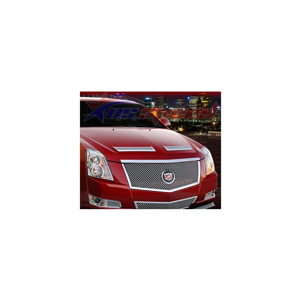 2008 UP Cadillac CTS Chrome Hood Vents 2PC Front