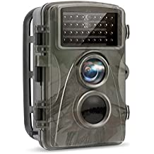 TEC.BEAN Trail Camera 12MP 1080P Full HD Hunting Game Camera 34PCS 850NM No-Glow Black Infrared LEDs With Night Vision Up To 65 Feet for Wildlife Monitoring