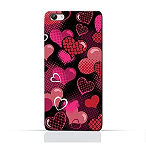 AMC Design Valentine Hearts Seamless Pattern Printed Protective Case for Vivo Y65 - Multi Color