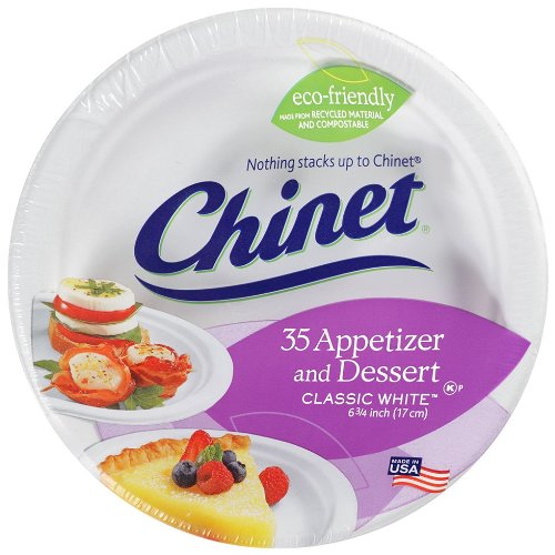 Chinet Classic Paper Bowl - Chinet Classic White Dessert Plate - 6.75 in - 35 ct