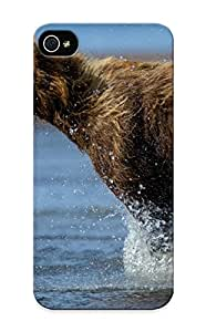 Emersonfong Anti-scratch And Shatterproof Bear Animal Predator Wildlife Rivers Drops Splash Spray Phone Case For Iphone 5/5s/ High Quality Tpu Case