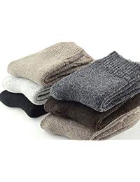 Mens Wool Socks Heavy Thick Socks Thermal Fuzzy Warm Comfort Crew Winter Socks 5 Pack