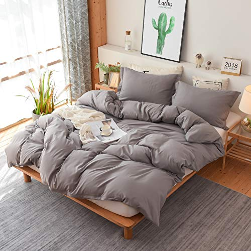 - Colourful Snail 3-Piece Luxury Duvet Cover Set, Includes Duvet Cover and 2 Matching Pillow Shams, Ultra Soft and Easy Care, Wrinkle & Fade Resistant, Queen/Full, Grey