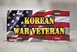 License Plate Frame Korean War Veteran Military Quote Auto Tag Holder Christmas Gift