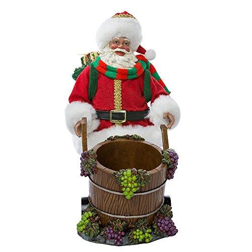 Santa Wine Bottle Holder (Kurt Adler 10-Inch Fabriché Santa with Barrel Wine Bottle Holder)