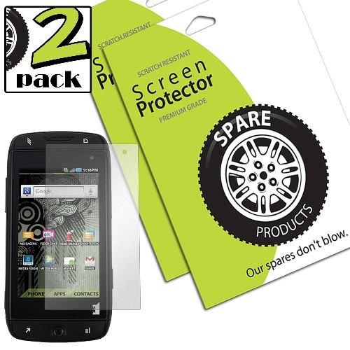Spare Products Screen Protector Film for T-Mobile Sidekick 4G - 2 Pack - Retail Packaging - - Protector Sidekick Screen