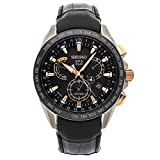 Seiko Astron GPS Solar Quartz (Battery) Black Dial Mens Watch SSE061 (Certified Pre-Owned)
