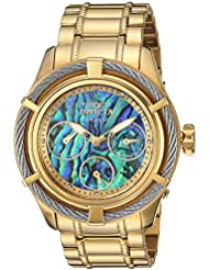 Invicta Womens Bolt Quartz Stainless Steel Casual Watch, Color:Gold-Toned (Model: 24452)