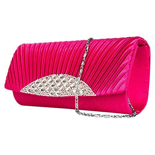 Magenta Dinner Women's Case Purses lady Mildred Girl's Bag clutch Fashion Anna VanGoddy Diamond wallet Evening 6pTWq