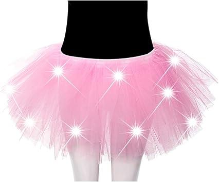 FABSELLER Falda de Ballet Luminosa LED para Adulto, Falda de ...
