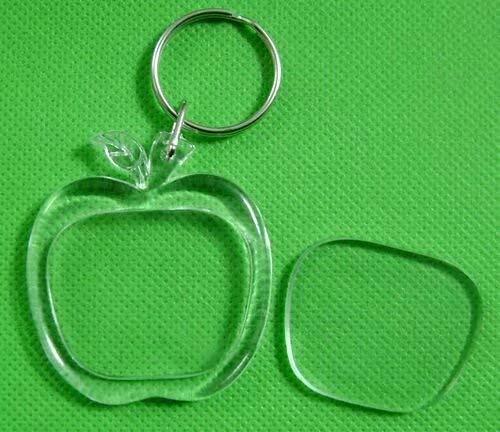 Lot de New Design 10pcs porte-clés bricolage anneau cassé blanc cadre photo Générique