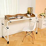 UNKU Adjustable Overbed Table, Laptop Cart Laptop