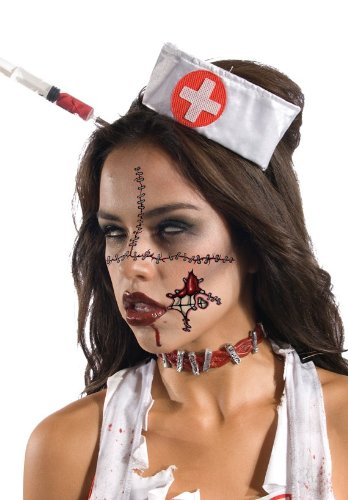 Zombie Face Tattoo (Zombie Face Tattoo Size One-Size)