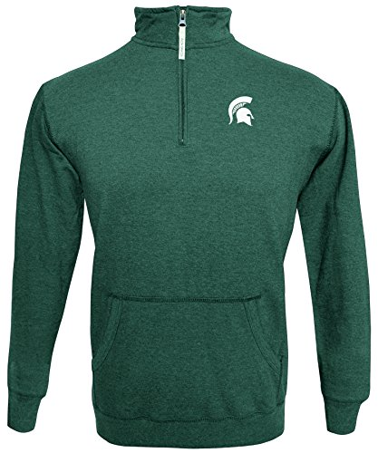- Alta Gracia NCAA Michigan State Spartans Men's 1/4 Zip 50/50 Fleece Top, Green, XX Large