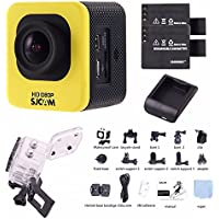 SJCAM M10 Kit + Extra EACHSHOT Battery + Charger, Cube Mini Full HD Action Sport Camera Simple Version Kit (Yellow)