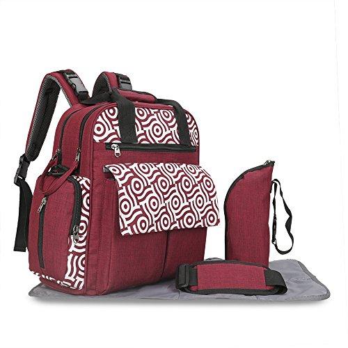 PHNAM Diaper Bag Durable Multi-Function Large Capacity Trave
