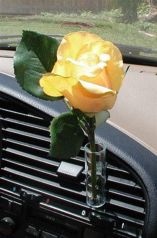Amazon Autovase Car Vase Yellow Rose Home Kitchen