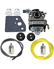 Hippotech Carburetor with Primer Bulb and Fuel Line Filter Grommet for Honda GX22 GX31 Replaces Engine FG100 HHE31C HHT31S UMK431 UMK431K1 String Trimmer Brushcutter