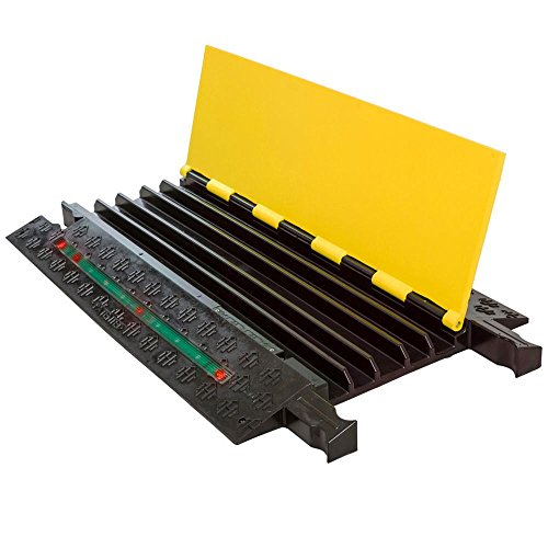 Firefly Cable Protector - Checkers Firefly Illuminated Cable Protector Ramp Yellow with Red LED