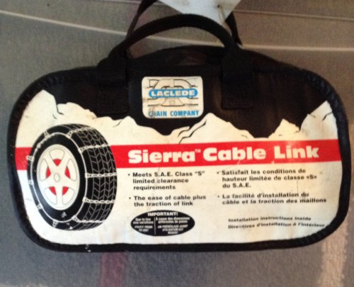 "Sierra Cable Link Radial Tire Chains Fits all cars especially ""S: Model"