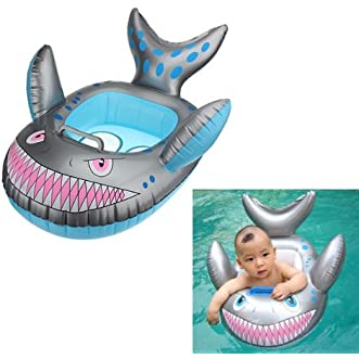 [Free Shipping] Baby Kids Grey Shark Shape Inflatable Swimming Pool Seat Ring // bebé del anillo del asiento piscina inflable gris forma de tiburón