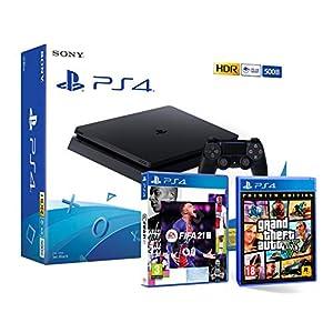 Comprar PS4 Slim 500Gb Negra + FIFA 21 + GTA V Grand Theft Auto 5