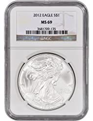 2012 American Silver Eagle $1 MS69 NGC