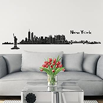 Wall Decals New York Street Sign City Travel Fashion Office Dorm - Wall decals city