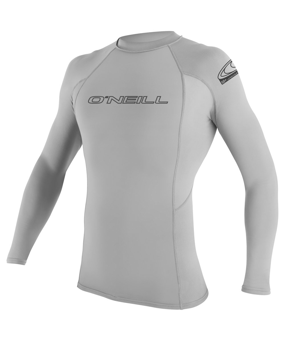 O'Neill Men's Basic Skins UPF 50+ Long Sleeve Rash Guard, Lunar, XX-Large by O'Neill Wetsuits