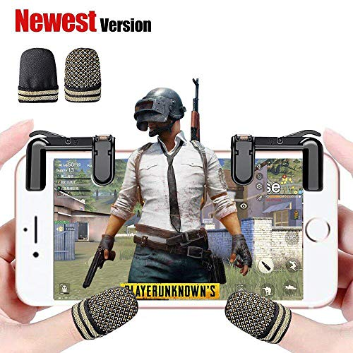 Mobile Game Controller(Newest Version), FengNiao Sensitive Shoot and Aim Buttons L1R1 for PUBG/Knives Out/Rules of Survival, PUBG Mobile Game Joystick, Cell Phone Game Controller for Android IOS1 Pair (Best Moba On Ios)