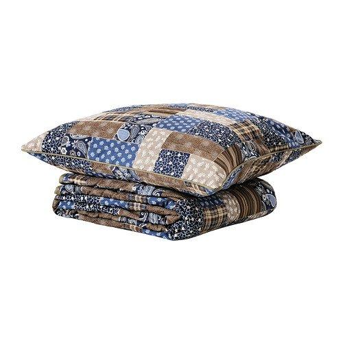 IKEA Fraken - Colcha y funda de cojín, azul, marrón ...