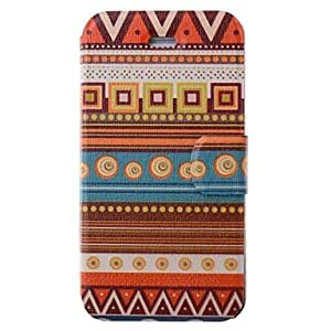 GJY Good Quality Bohemia Style Pattern Leather Full Body Case with Card Slot for iPhone 4/4S